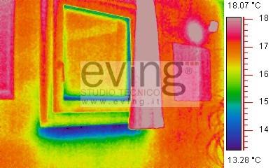 Termografia ir valutazioni termografiche edilizia analisi termografica industria - Ponte termico finestra ...